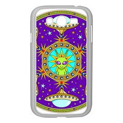 Alien Mandala Samsung Galaxy Grand Duos I9082 Case (white) by Onesevenart