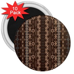 African Style Vector Pattern 3  Magnets (10 Pack)