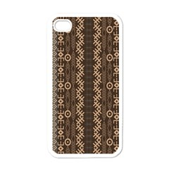 African Style Vector Pattern Apple Iphone 4 Case (white) by Onesevenart