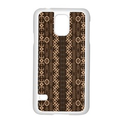 African Style Vector Pattern Samsung Galaxy S5 Case (white) by Onesevenart