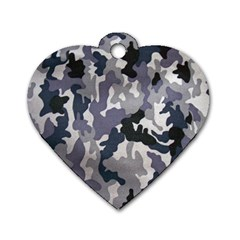 Army Camo Pattern Dog Tag Heart (two Sides) by Onesevenart