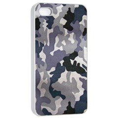 Army Camo Pattern Apple Iphone 4/4s Seamless Case (white) by Onesevenart