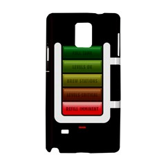 Black Energy Battery Life Samsung Galaxy Note 4 Hardshell Case by Onesevenart