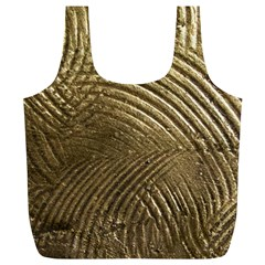 Brushed Gold Full Print Recycle Bags (l)  by Onesevenart