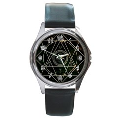 Cult Of Occult Death Detal Hardcore Heavy Round Metal Watch by Onesevenart