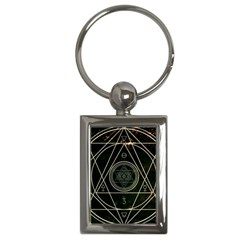 Cult Of Occult Death Detal Hardcore Heavy Key Chains (rectangle)  by Onesevenart