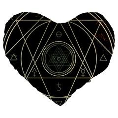 Cult Of Occult Death Detal Hardcore Heavy Large 19  Premium Heart Shape Cushions by Onesevenart