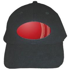 Cricket Ball Black Cap by Onesevenart