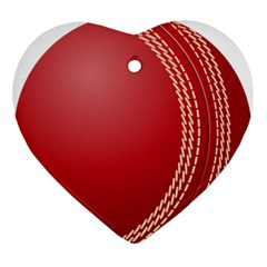 Cricket Ball Ornament (heart) by Onesevenart