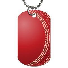 Cricket Ball Dog Tag (two Sides) by Onesevenart