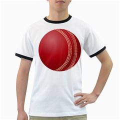 Cricket Ball Ringer T Shirts by Onesevenart