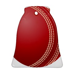 Cricket Ball Bell Ornament (two Sides) by Onesevenart