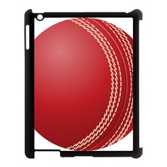 Cricket Ball Apple Ipad 3/4 Case (black) by Onesevenart