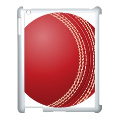 Cricket Ball Apple Ipad 3/4 Case (white) by Onesevenart