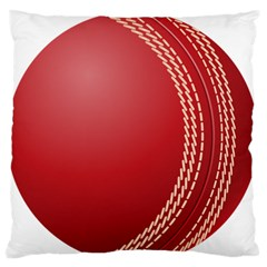 Cricket Ball Standard Flano Cushion Case (one Side) by Onesevenart