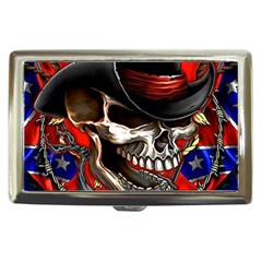 Confederate Flag Usa America United States Csa Civil War Rebel Dixie Military Poster Skull Cigarette Money Cases by Onesevenart