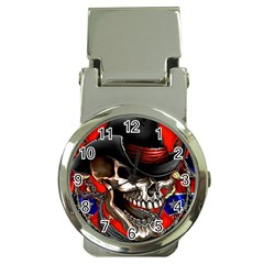 Confederate Flag Usa America United States Csa Civil War Rebel Dixie Military Poster Skull Money Clip Watches by Onesevenart