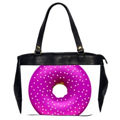 Donut Transparent Clip Art Office Handbags (2 Sides)  by Onesevenart