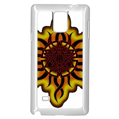 Disturbed Is An American Heavy Metal Band Logo Samsung Galaxy Note 4 Case (white) by Onesevenart