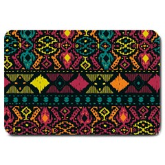 Ethnic Pattern Large Doormat  by Onesevenart