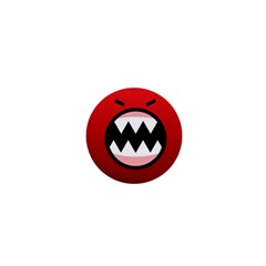 Funny Angry 1  Mini Buttons by Onesevenart
