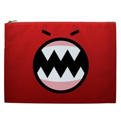 Funny Angry Cosmetic Bag (xxl)  by Onesevenart