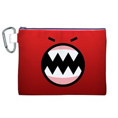 Funny Angry Canvas Cosmetic Bag (xl) by Onesevenart
