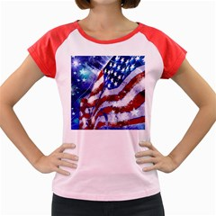 Flag Usa United States Of America Images Independence Day Women s Cap Sleeve T Shirt by Onesevenart