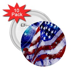 Flag Usa United States Of America Images Independence Day 2 25  Buttons (10 Pack)  by Onesevenart