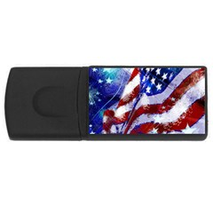 Flag Usa United States Of America Images Independence Day Usb Flash Drive Rectangular (4 Gb) by Onesevenart