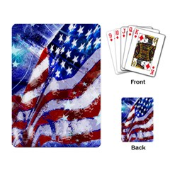 Flag Usa United States Of America Images Independence Day Playing Card by Onesevenart