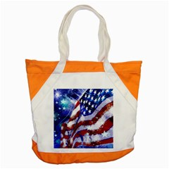 Flag Usa United States Of America Images Independence Day Accent Tote Bag by Onesevenart