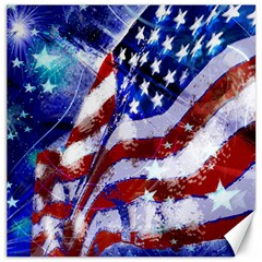 Flag Usa United States Of America Images Independence Day Canvas 12  X 12   by Onesevenart