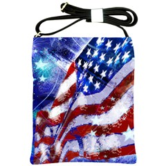 Flag Usa United States Of America Images Independence Day Shoulder Sling Bags by Onesevenart
