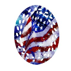 Flag Usa United States Of America Images Independence Day Oval Filigree Ornament (two Sides) by Onesevenart