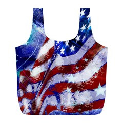 Flag Usa United States Of America Images Independence Day Full Print Recycle Bags (l)  by Onesevenart