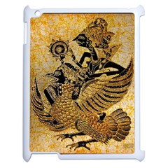 Golden Colorful The Beautiful Of Art Indonesian Batik Pattern Apple Ipad 2 Case (white) by Onesevenart