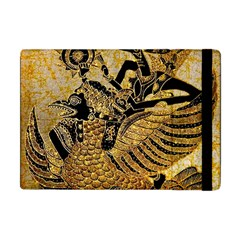 Golden Colorful The Beautiful Of Art Indonesian Batik Pattern Apple Ipad Mini Flip Case by Onesevenart