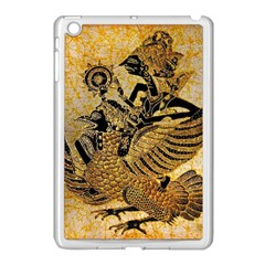 Golden Colorful The Beautiful Of Art Indonesian Batik Pattern Apple Ipad Mini Case (white) by Onesevenart