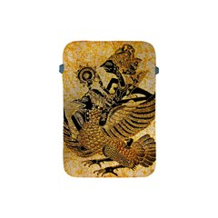 Golden Colorful The Beautiful Of Art Indonesian Batik Pattern Apple Ipad Mini Protective Soft Cases by Onesevenart