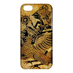 Golden Colorful The Beautiful Of Art Indonesian Batik Pattern Apple Iphone 5c Hardshell Case by Onesevenart