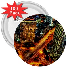 Hdri City 3  Buttons (100 Pack)  by Onesevenart