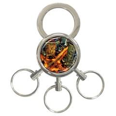 Hdri City 3 Ring Key Chains by Onesevenart