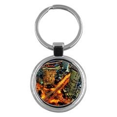 Hdri City Key Chains (round)  by Onesevenart