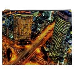 Hdri City Cosmetic Bag (xxxl)  by Onesevenart
