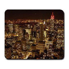 New York City At Night Future City Night Large Mousepads by Onesevenart