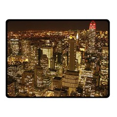 New York City At Night Future City Night Fleece Blanket (small) by Onesevenart