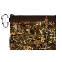 New York City At Night Future City Night Canvas Cosmetic Bag (xl) by Onesevenart