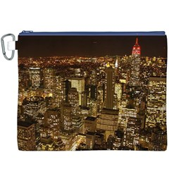 New York City At Night Future City Night Canvas Cosmetic Bag (xxxl) by Onesevenart