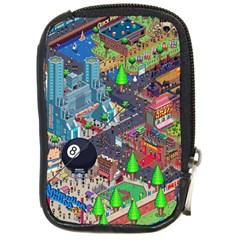 Pixel Art City Compact Camera Cases by Onesevenart
